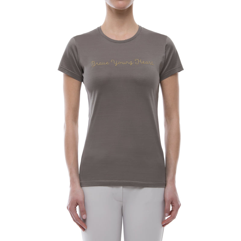 Brave Young Heart Tee Shirt (Taupe)