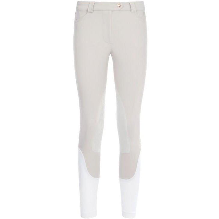 Nikki Flap-Pocket Pants (Beige)