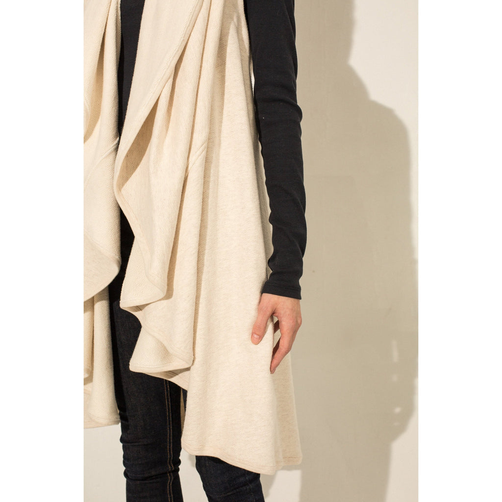 The Drape Vest (Oatmeal)