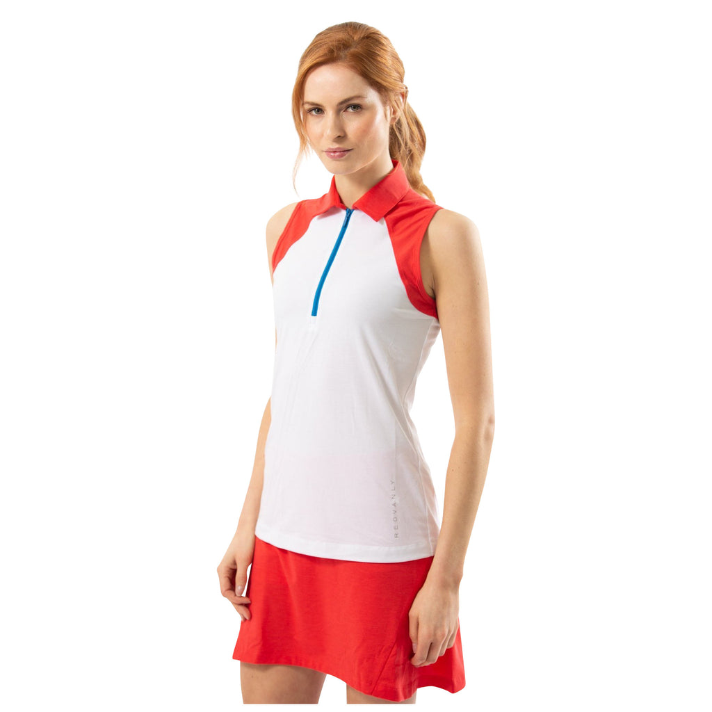 Garnett Sleeveless Polo (Red)