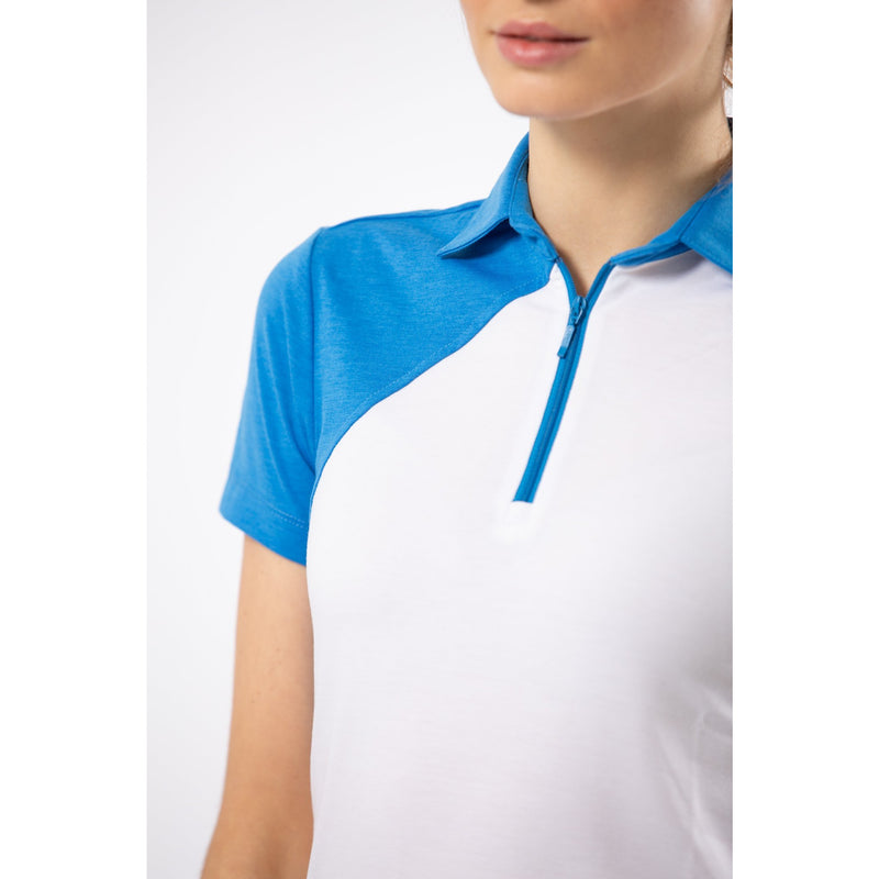 Elliot Polo (White + Blue)