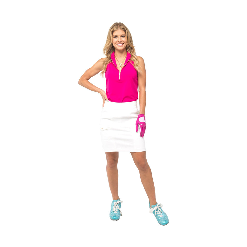 Course-to-Cocktails Sleeveless Petite Top (Pink)