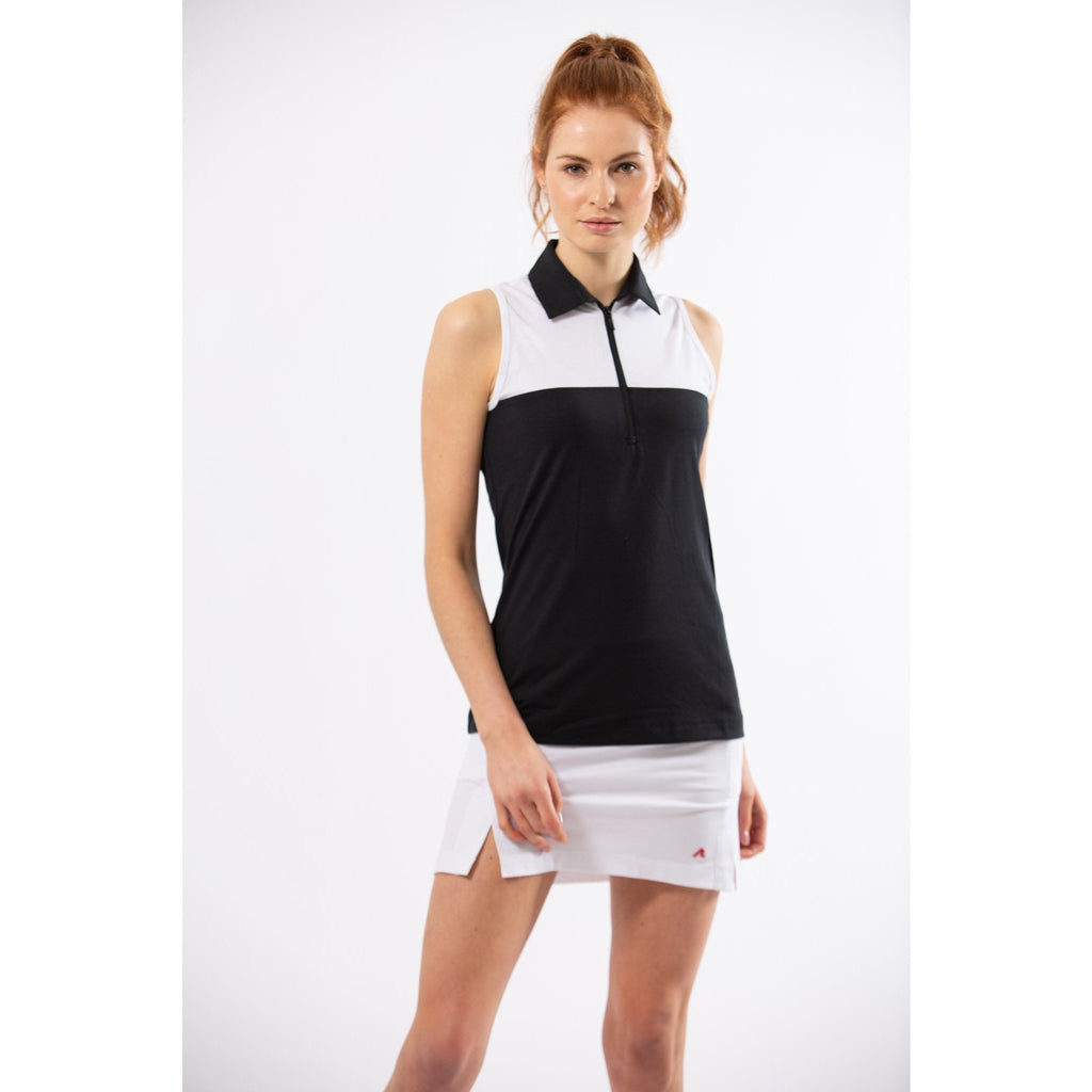 Pacific Sleeveless Polo (Black)