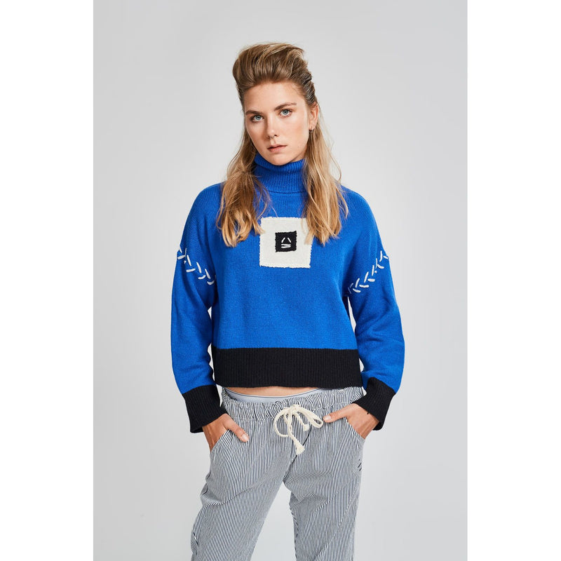 Sky Blue Cropped Sweater