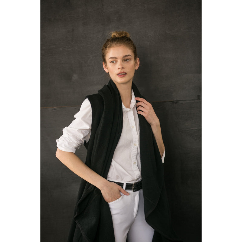 The Drape Vest (Black)