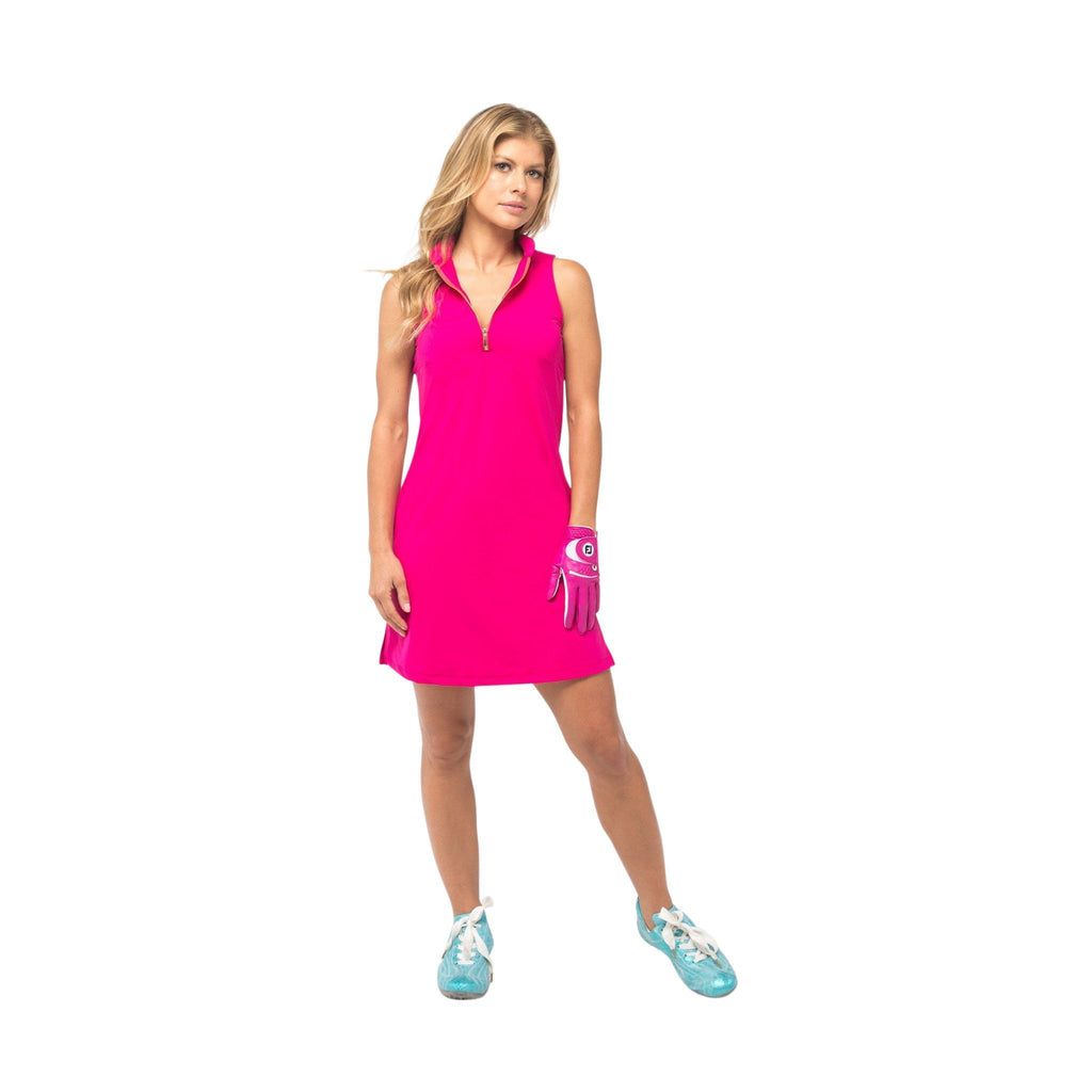 Course-to-Cocktails Sleeveless Petite Dress (Pink)