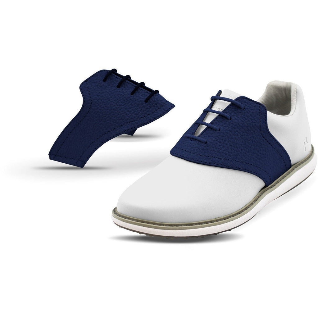 Interchangeable Golf Shoe Saddle (Navy Saddles w Navy Laces)