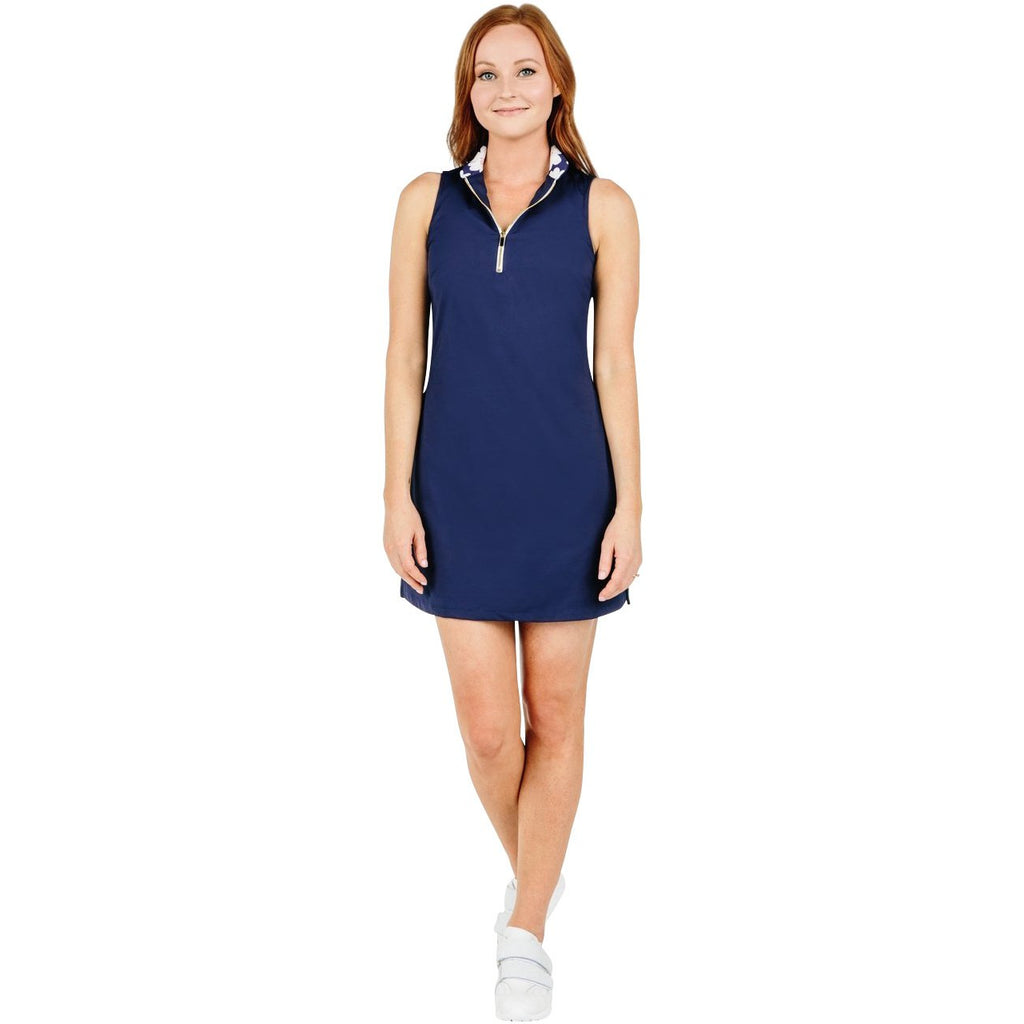Course-to-Cocktails Sleeveless Dress (Navy)