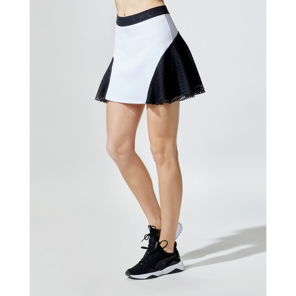 Match Skirt (White/Black Square Mesh)