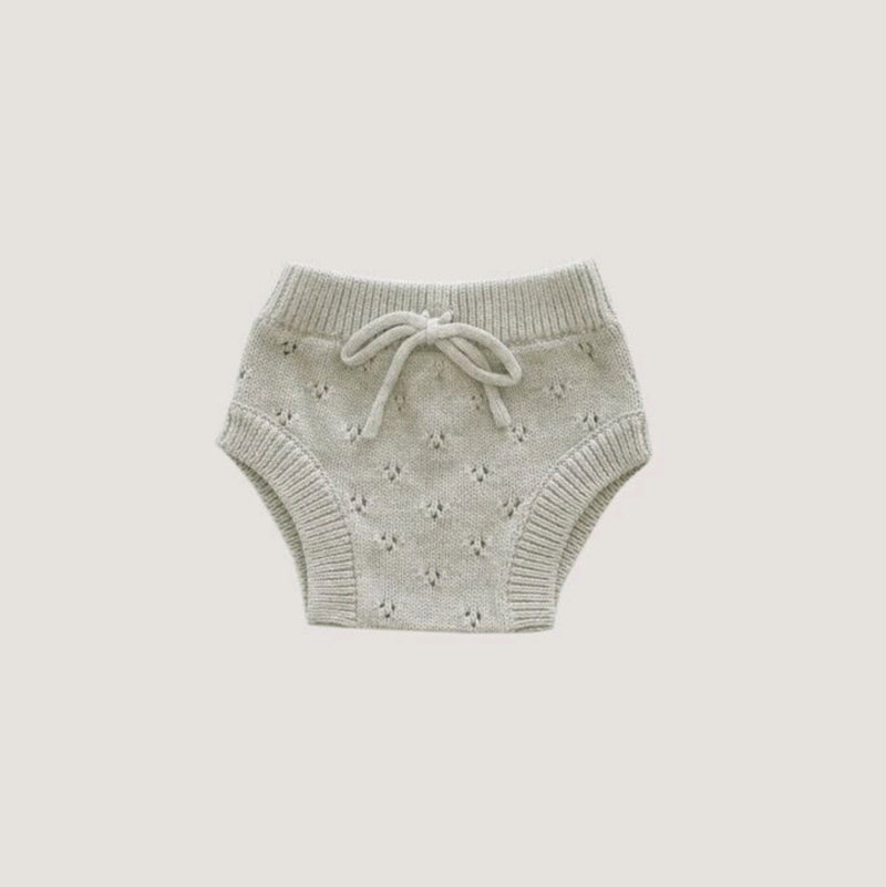 Pointelle Knit Bloomer- Oatmeal Marle