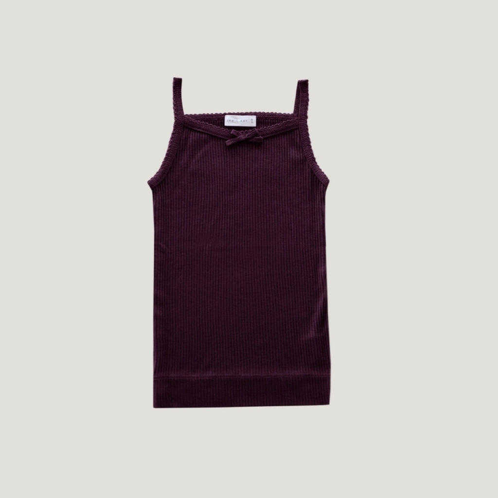 Cotton Modal Singlet - Mulberry