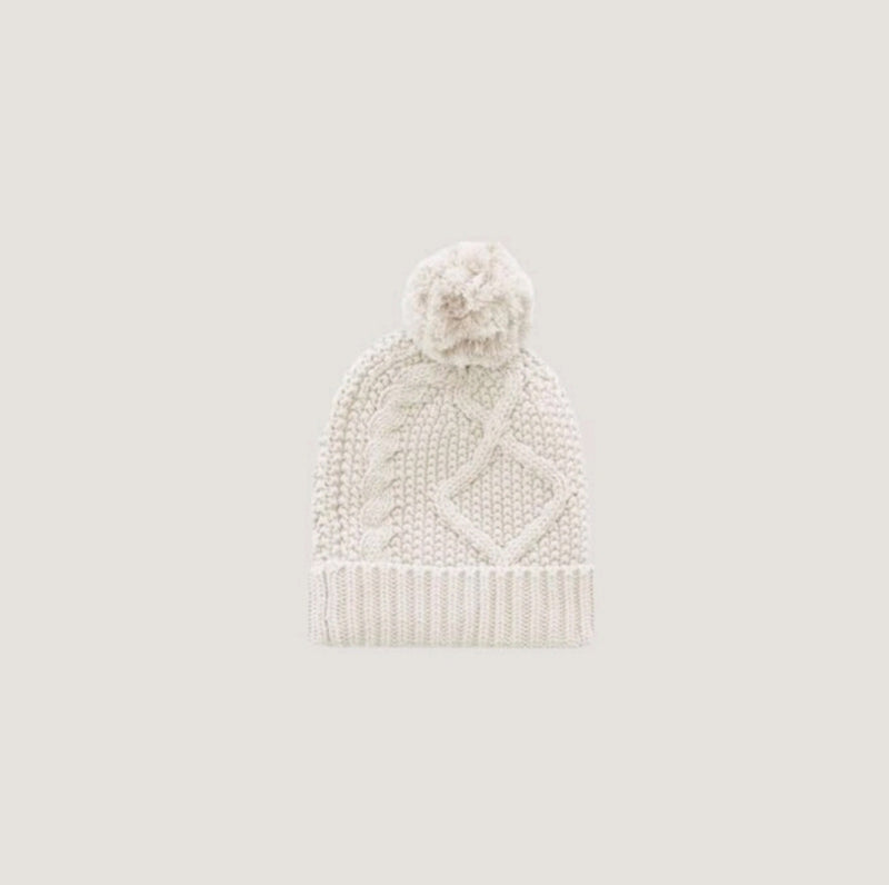 Cable Knit Hat Oatmeal Marle