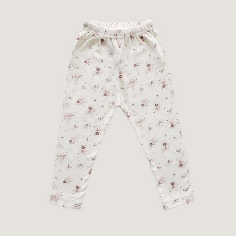 Organic Cotton Legging Sweet William Floral