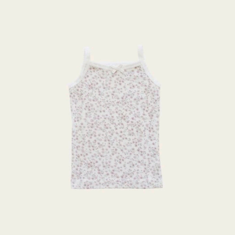 Organic Cotton Singlet Posy Floral