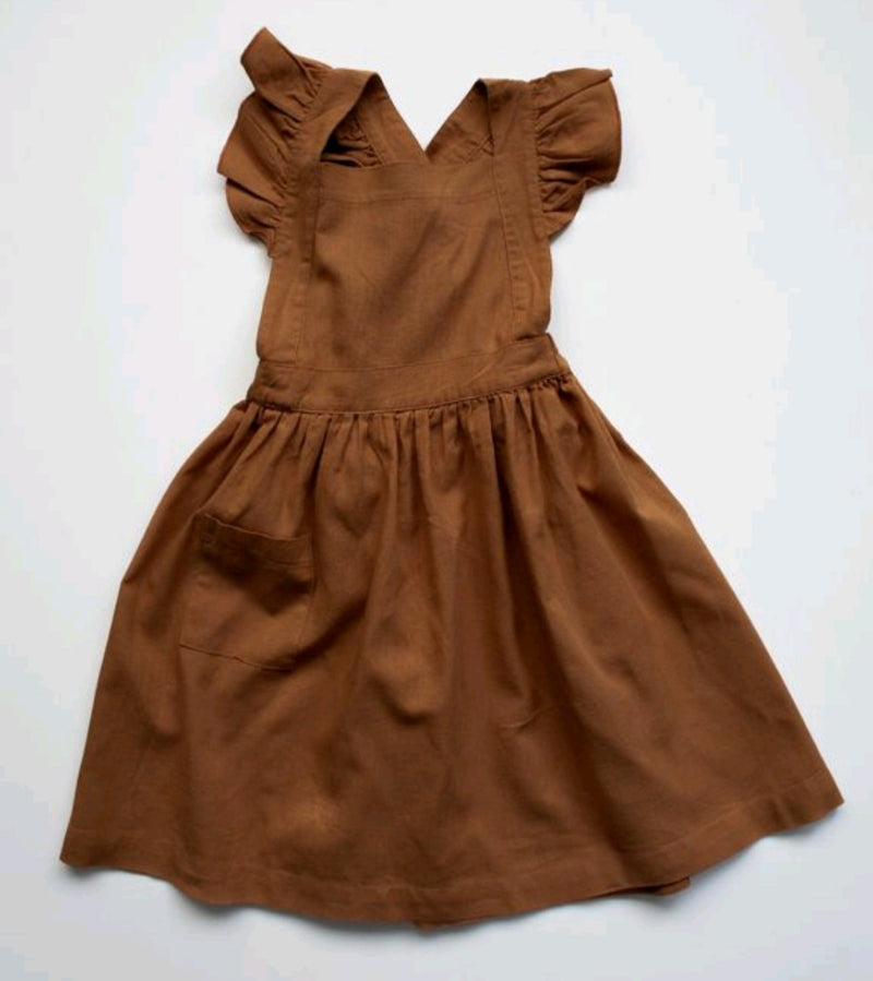 The Linen Pinafore Rust