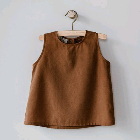 The Wilder Linen Tank Oatmeal