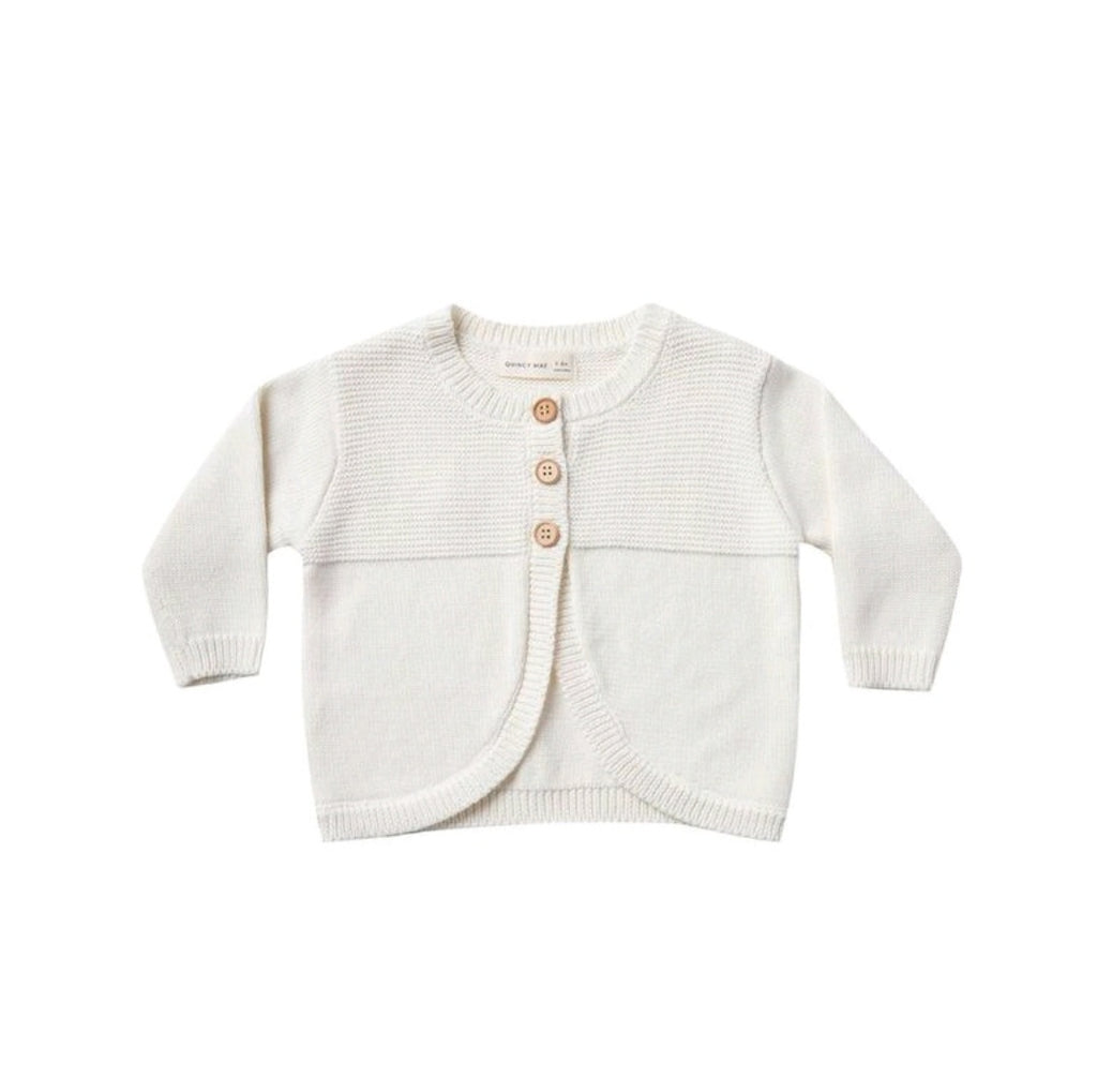 KNIT CARDIGAN SWEATER | IVORY