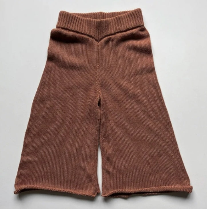 The Wide Leg Knit Trouser Mocha