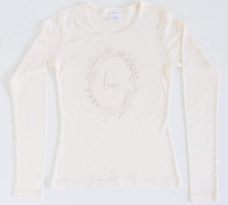 "Little  & Loved Longsleeve "" Lover "" Mama T - Natural"