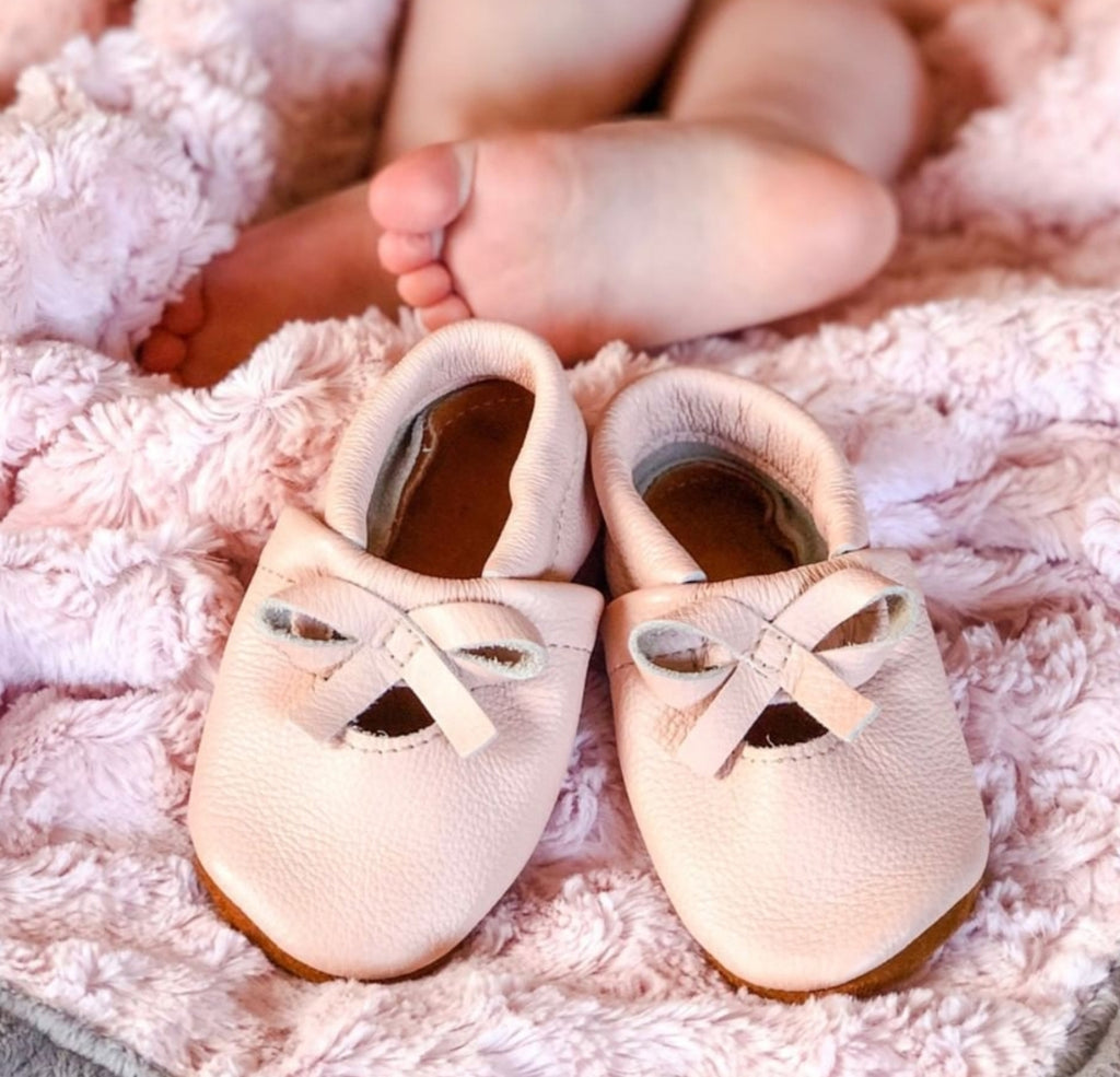 Blush Pink BALLET BOW FLATS Baby and Toddler
