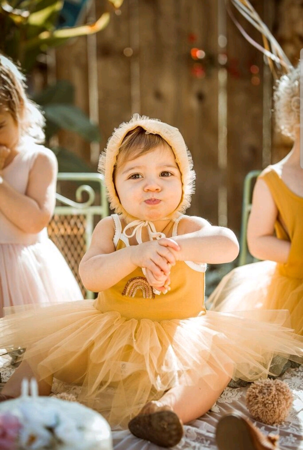 Rainbow Tutu Onesie Butterscotch