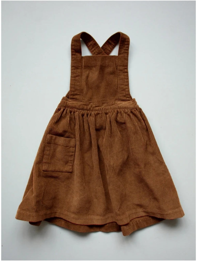 The Corduroy Pinafore Rust