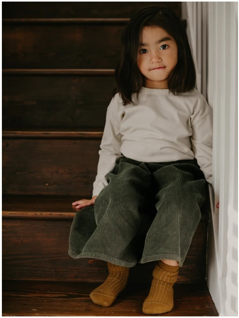 The Corduroy Culotte Dark Olive ~ OCTOBER PRE-ORDER