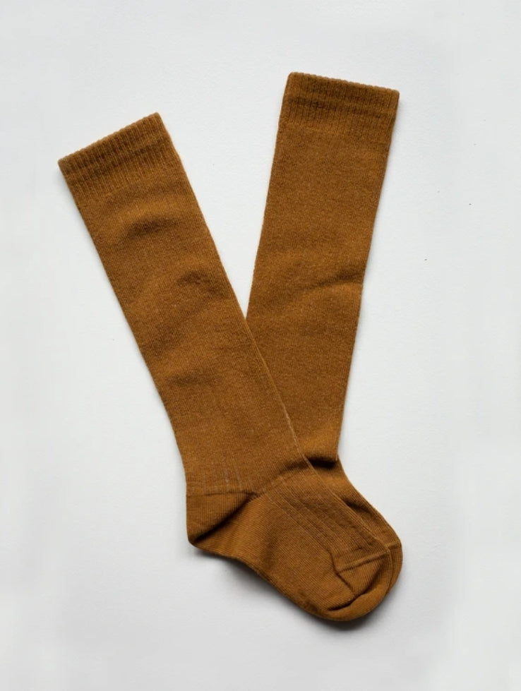The Ribbed Sock Bronze