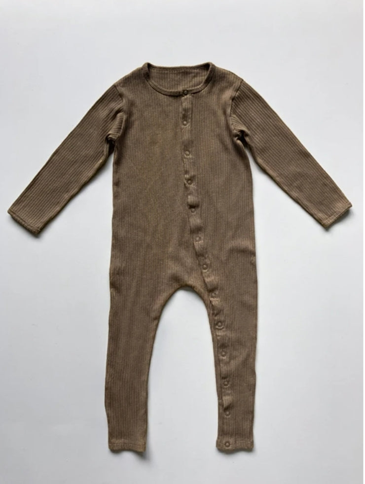 The Ribbed Pajama Walnut