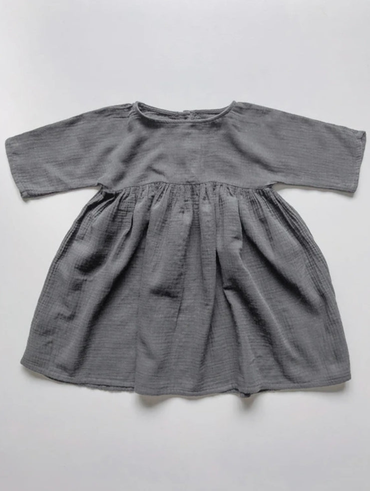 The Muslin Dress Lead Grey