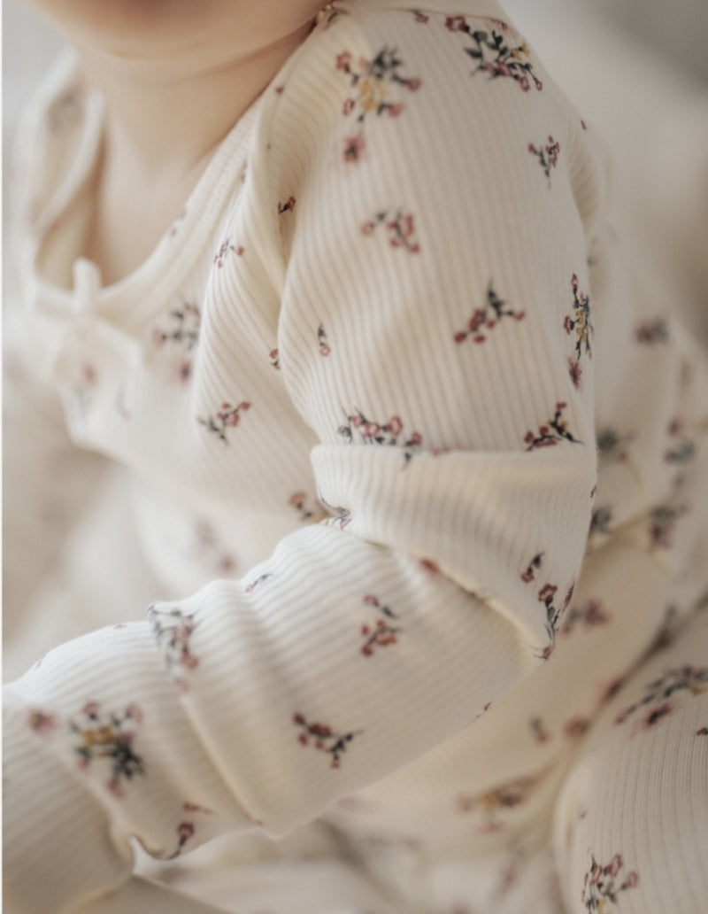 WINTER RIBBED PYJAMA- PIXIE FLORAL