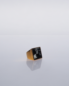 The Rothko Ring / Marbled Black