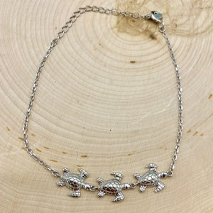Turtle Family Chain Bracelet
