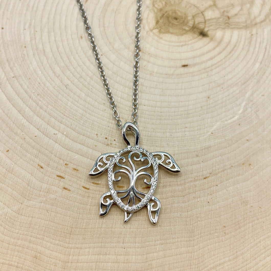Ornate Turtle Necklace
