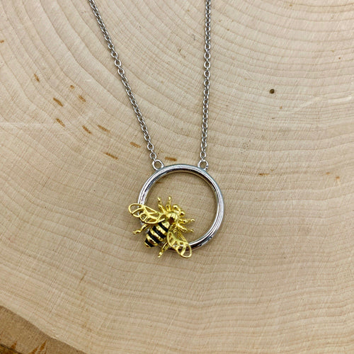 Halo Bee Necklace