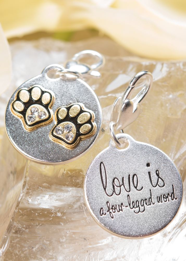 Paws with Crystal Charm