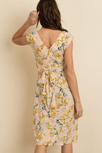 Load image into Gallery viewer, Golden Flower Midi Dress