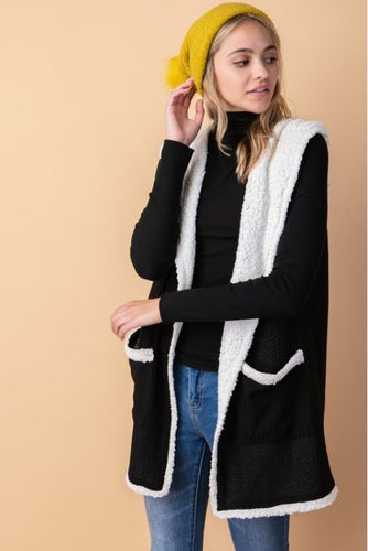 Hooded Slouchy Vest