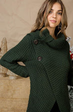 Load image into Gallery viewer, Button Accent Cowl Neck Sweater