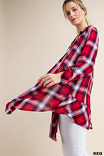 Load image into Gallery viewer, Ruffle Plaid Cardigan