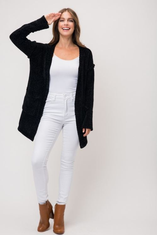 Thigh Length Cardigan