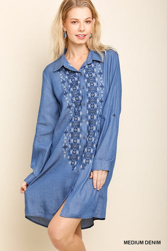 Embroider Button Tunic
