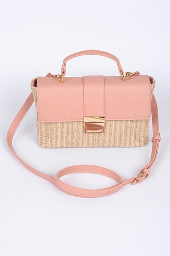 Straw Buckle Clutch