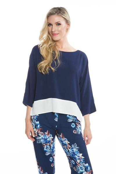 Double Layer Navy Top