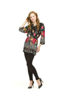 Floral Tunic with Border
