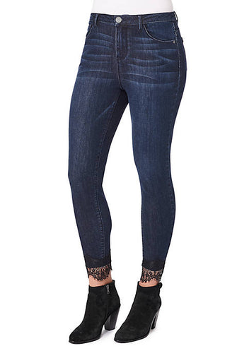 Lace Ankle Skimmer Denim