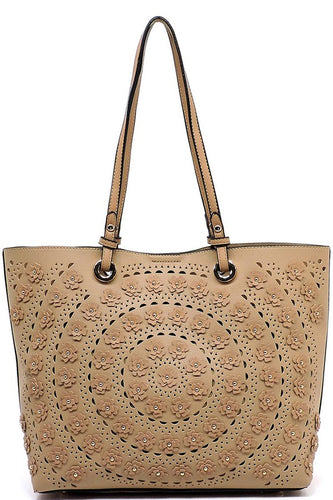 Laser Cut Flower 2-in-1 Shopper