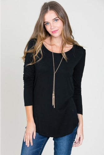 Long Sleeve R-Neck Top