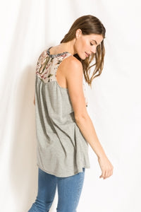 Mix Print Racer Back Tank