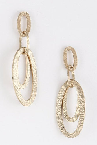 Overlapping Oval Metal Earrings